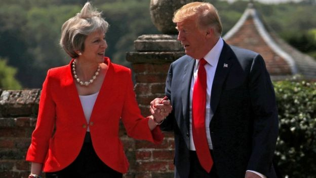 Donald Trump and Prime Minister Theresa