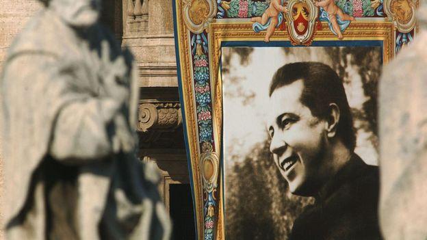 Imagen del padre Alberto Hurtado.