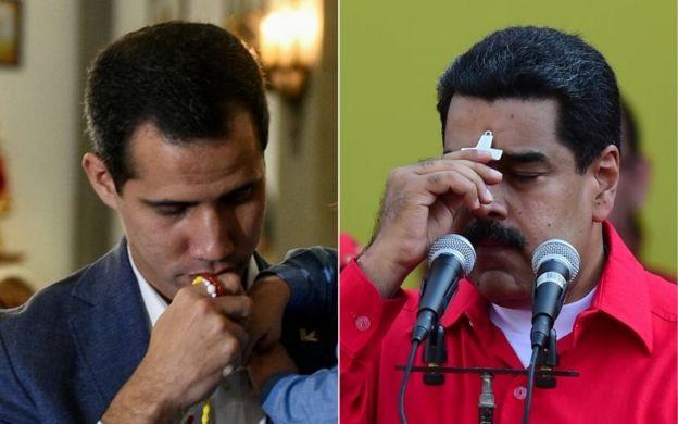 Guaido ve Maduro