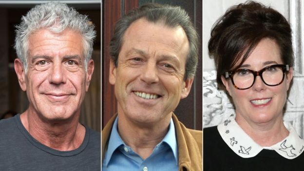 Anthony Bourdain, Leslie Grantham and Kate Spade