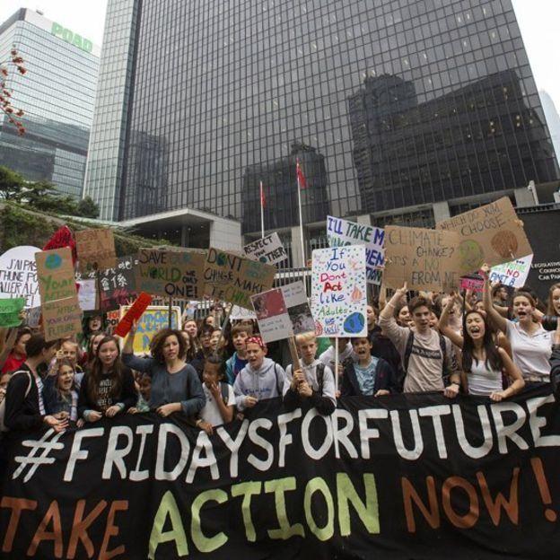 iklim değişikliğine karşı öğrenci protesosu, Hong Kong