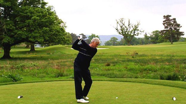 9c98452c55d Former US President Bill Clinton in action at Loch Lomond Golf Club in May  2001