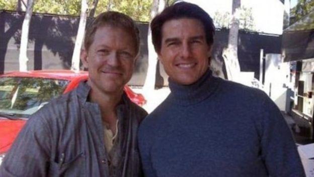 الممثل الأمريكي توم كروز ومايكل إنرايت