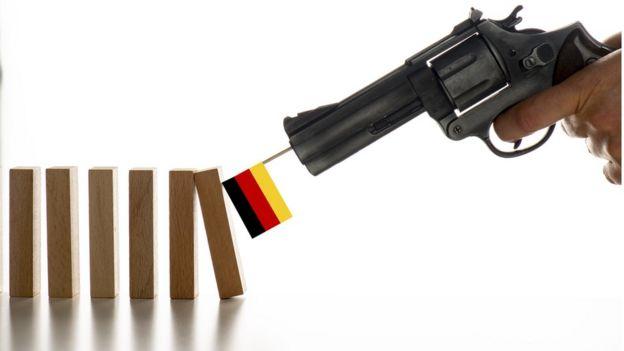 Revólver com bandeira da Alemanha