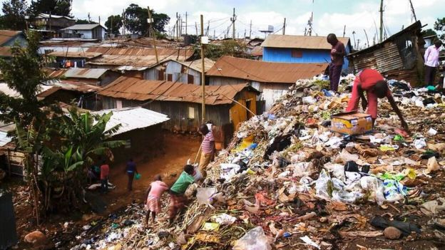 Barrio marginal en Kenia