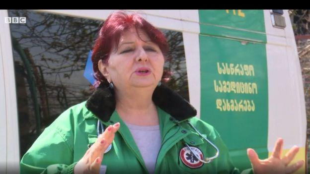 Mimoza Parciani, Tbilisi təcili yardım mərkəzinin baş həkimi