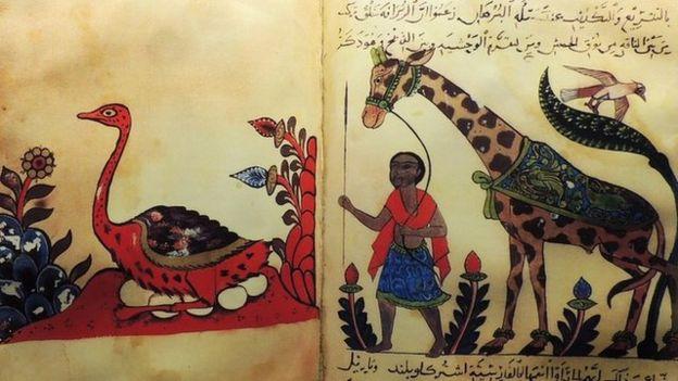 El Cahiz'in Hayvanlar Kitabı'nden iki sayfa