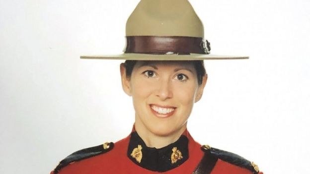 Royal Canadian Mounted Police Constable (RCMP) Heidi Stevenson in an undated handout photo