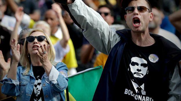 Simpatizantes de Bolsonaro em São Paulo