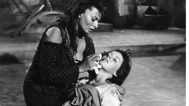 Sophia Loren ve Eleonora Brown Two Women filminde