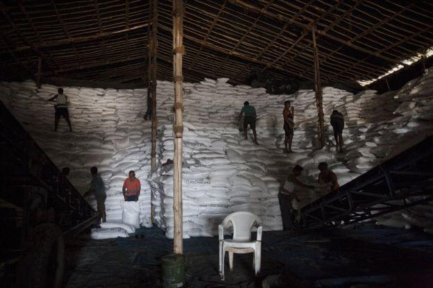 Sugar stocked in Maharashtra factory
