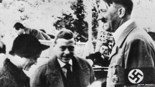 Duke and Duchess of Windsor meet Adolf Hitler in October 1937