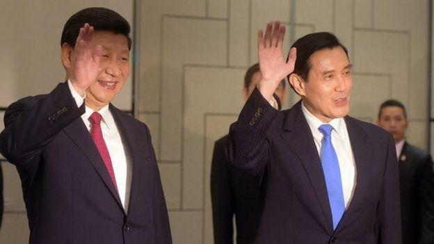 Xi Jinping and Ma Ying-jeou