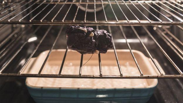 cocinando telas