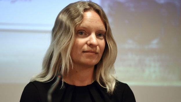 Maria Efimova ex empleada del banco Pilatus.