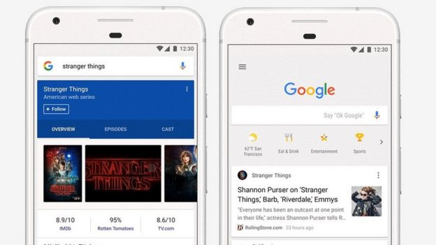 Google search app on mobile overhauled