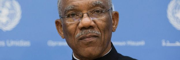 David Granger at the UN Headquarters in New York City on 29 September 2015