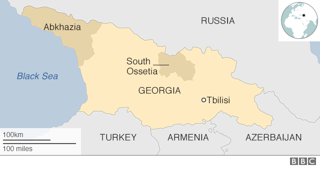 Syria Recognises Russian Backed Georgia Regions Bbc News