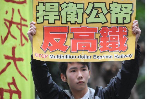 反高鐵示威
