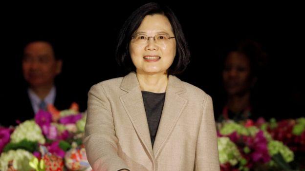 Presidenta de Taiwán, Tsai Ing-wen.