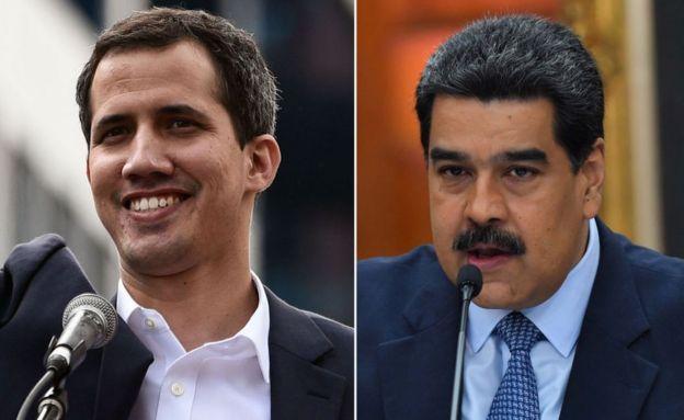 Guaidó y Maduro, fotomontaje.