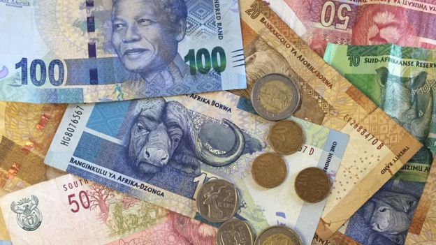 Rand notes and coins