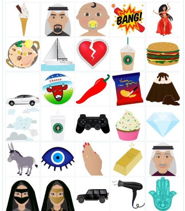 Meet the new Arab emojis perking up Dubai's WhatsApp chats - BBC News
