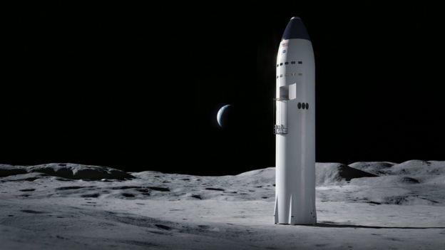 Starship на Луне
