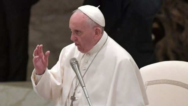Pope Francis at the Vatican. Photo: 6 May 2017
