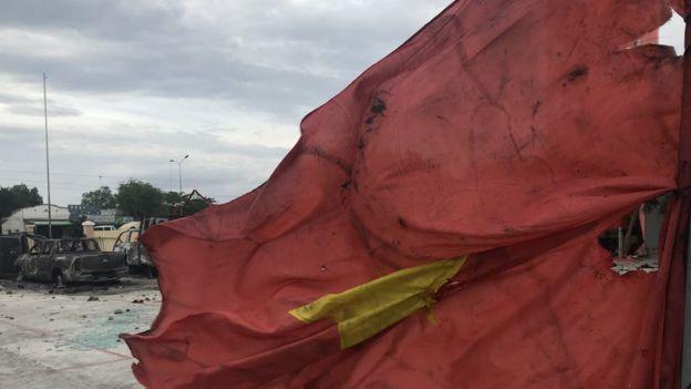 越南針對經濟特區法案的示威,在個別省份演變成大規模騷亂