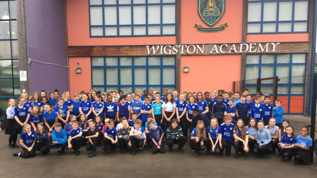 Wigston Academy Leicester City crash tribute