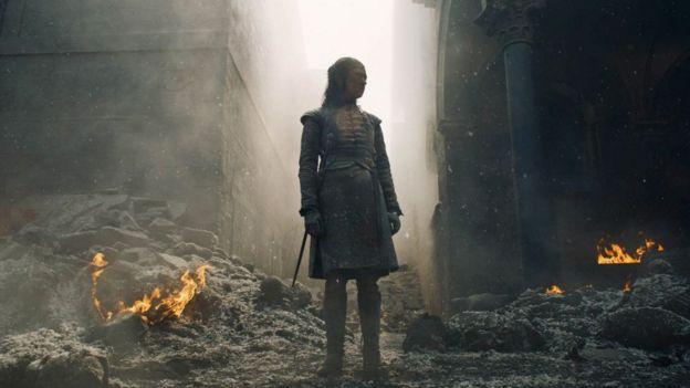 Arya durante el 8x05.
