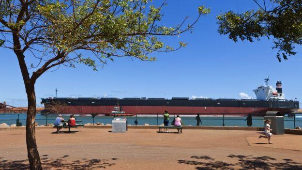 A bulk carrier ship at Port Hedland