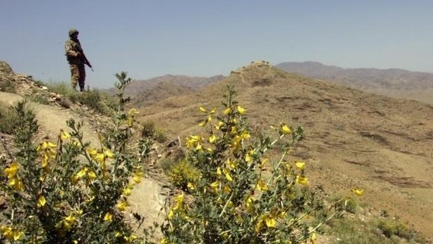 مناطق کوهستانی وزیرستان جنوبی در پاکستان