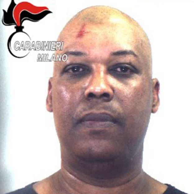 This undated photo handout by the Italian Carabinieri Press Office on March 21, 2019 shows driver Ousseynou S
