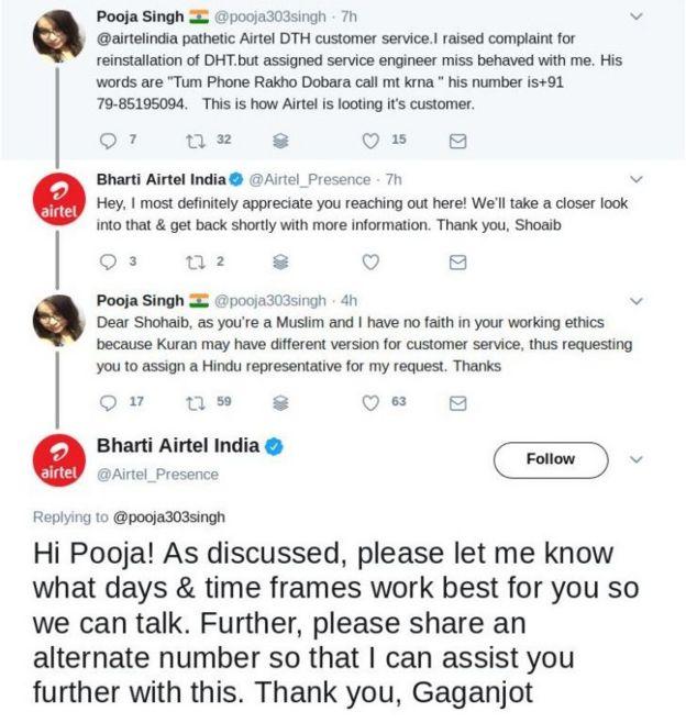 India telecom company in anti-Muslim tweet row - BBC News