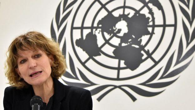 أغنيس كالامارد المقررة الخاصة للأمم المتحدة المعنية بالاغتيالات العشوائية والقتل خارج نطاق القانون