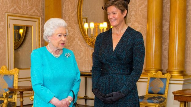 The Queen with Barbara Woodward in October 2015