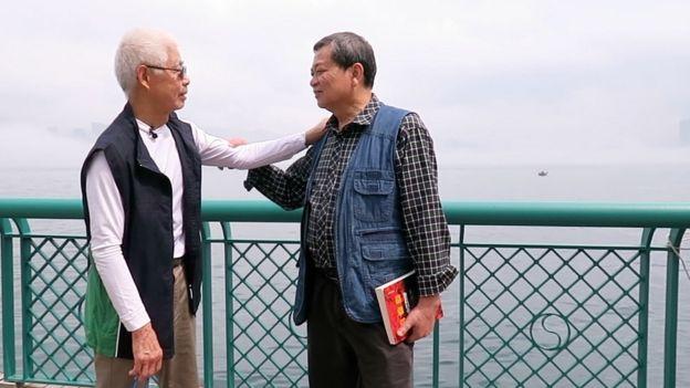 Chan (L) and Ha