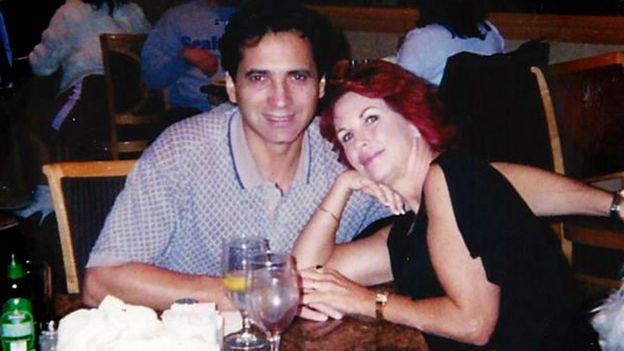 Philippe Padieu y Diane Reeve en un restaurante