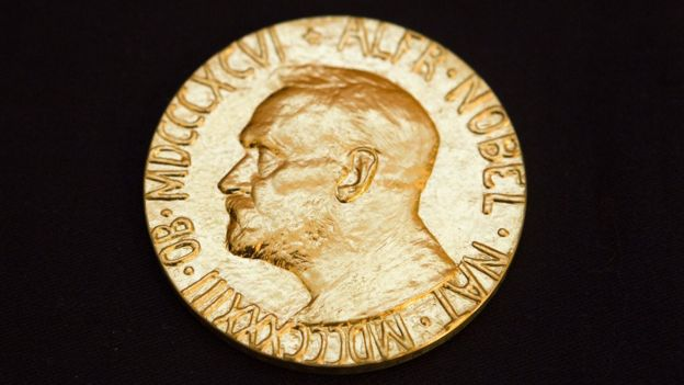 close up of Nobel medal awarded to Liu Xiabo in 2010