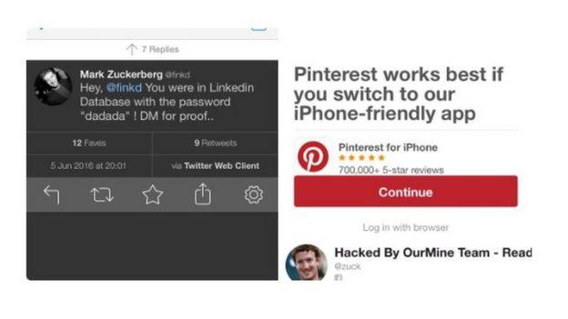 d5096b211 Hackers  invadem contas de redes sociais de fundador do Facebook ...