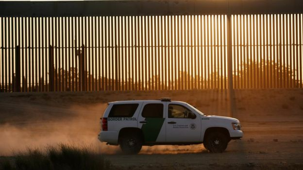 Frontera entre EE.UU. y México en El Paso, Texas
