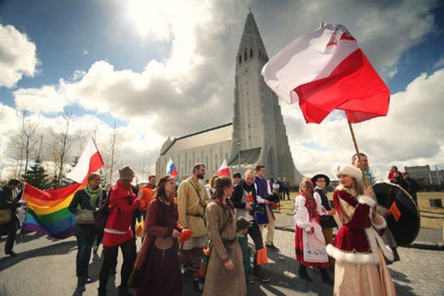 Desfile polonês em Reikiavik