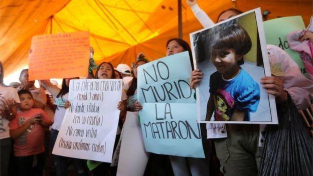 Protesta por el asesinato de Fátima