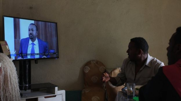 Ethiopians in this small restaurant in the north of Ethiopia are glued to a television showing their new prime minister. Though Abiy Ahmed has his critics, he is enormously popular in Ethiopia and internationally for his rapid-fire reforms since coming to power in April 2018.