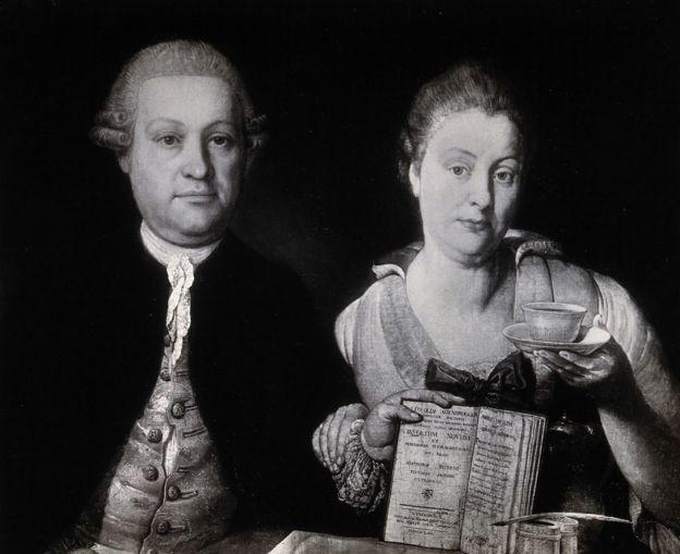 Leopold Auenbrugger, aquí con su esposa