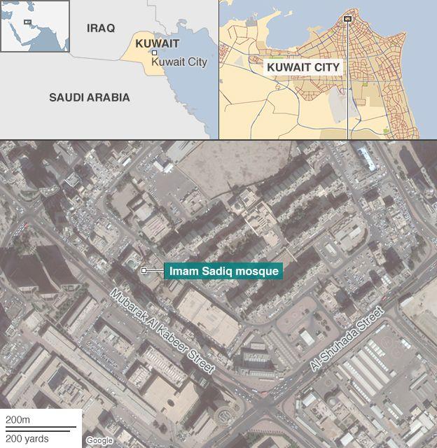 Location of the Imam Sadiq Mosque in al-Sawaber