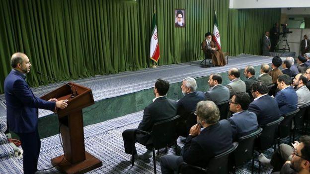 محمد سرافراز در دیدار مدیران صداوسیما با رهبر جمهوری اسلامی ایران