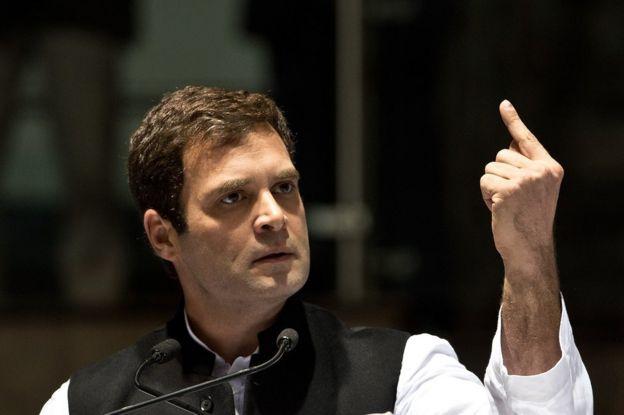 Рахул Ганди выступает с речью на собрании конгресса в Дели 17 января 2014 года.